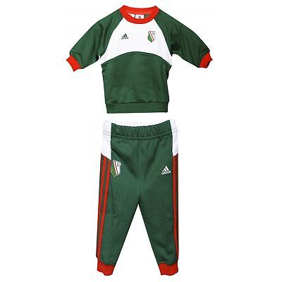 adidas Legia Warsaw Tracksuit Set Infants Green/White Football Soccer Top Pants