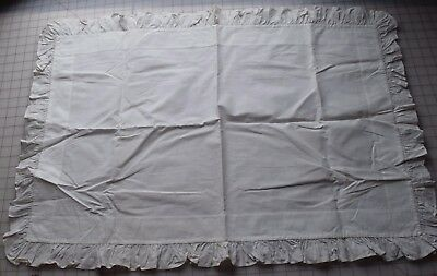 Antique cotton Pillow Sham, crisp and lovely, has stencilled name