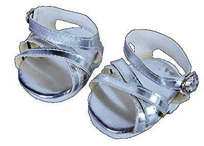 """Silver Shine Sandals Teddy Bear Clothes - Fits Most 8"""" - 10"""" Stuffed Animals"""