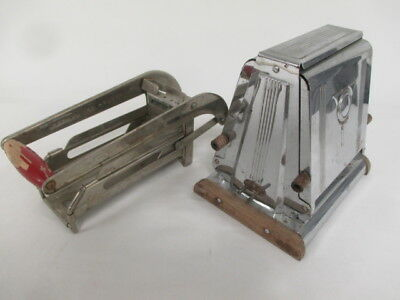 Pair of Vintage Metal Kitchen Pieces French Fry Maker & ToastMaster?