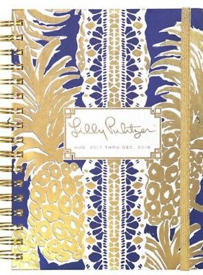 Lilly Pulitzer 17 month Large Agenda 2017-2018 Flamenco Navy MSRP 30$
