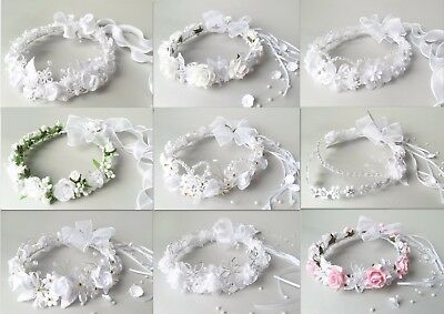Flower crown, First Holy Communion wreath,veil wianek komunijny - 27 designs !!!