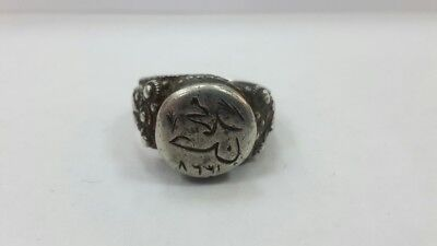 RRR Rare collectible Turkish Ottoman silver ring 18-19th century
