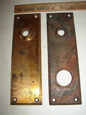 2 Heavy Brass Door Plates - Name In Oval On Back