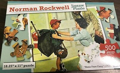 "Norman Rockwell Jigsaw Puzzle 500 Pieces ""Home From Camp"" 1968"
