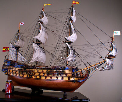 "SAN FELIPE 42"" model wood ship Spanish navy wooden tall ship sailing boat"
