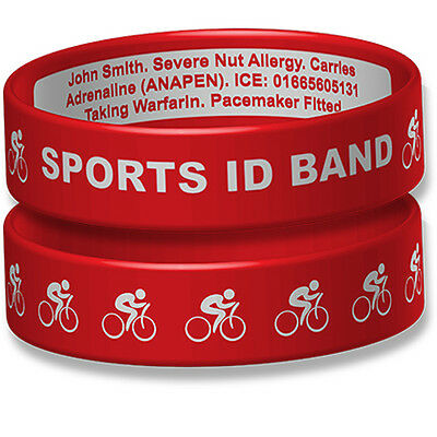 Sport ID Engraveable Wristband with Cycling Design