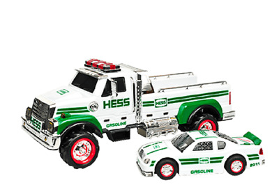 2011 Hess Truck  New In Box with extra C Batteries