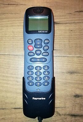Raymarine Ray240 Vhf Handset In Excellent Condition + Ray240 5M Extension Cable