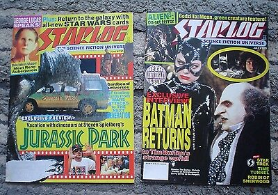 Starlog Magazine Lot (4) Science Fiction Universe Issue #'s 178, 180, 191, 193
