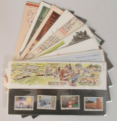 1986 Royal Mail Commemorative Presentation Packs. Sold separately & as year set.