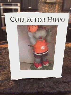 1 in series of 4 Sports Hippo Hippopotamus - Basketball Hippo. Great Gift!