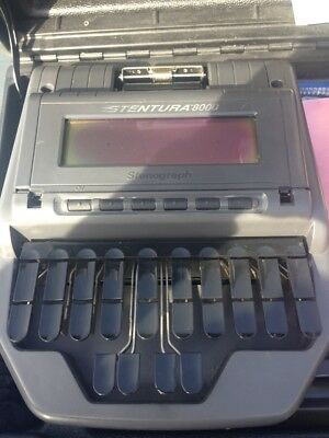 Stenograph Stentura 8000 court reporting writer with accessories. VERY GOOD COND