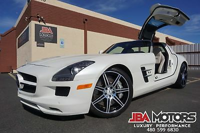 2011 Mercedes-Benz SLS AMG 2011 SLS AMG Coupe ONLY 9k Miles MYSTIC WHITE!! 11 SLS AMG Coupe Gullwing Clean CarFax like 2012 2013 2014 2015 2016 AMG GTS GT