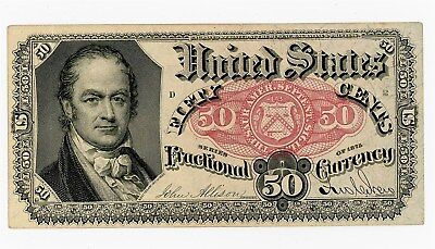 Fr. 1381 Fifty Cents 50c  Fifth Issue Fractional Currency Ch. AU