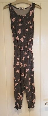Matalan girls grey butterfly print jumpsuit age 3 yrs