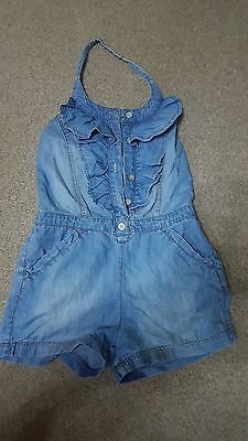 Girls NEXT Denim look Cotton Playsuit 10 Years Excellent used condition