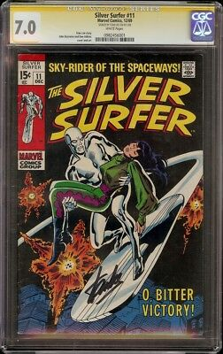 Silver Surfer # 11 CGC 7.0 White SS (Marvel, 1970) Stan Lee Signature