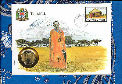 E Coins of All Nations Tanzania 1981 10 Senti UNC  Zebra