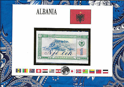 E Banknotes of All Nations Albania 1976  1 Lek P40a UNC