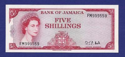 Gem Uncirculated 5 Shillings 1964 Banknote From Jamaica