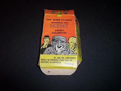 1960s SPOOKING SIZE Scent Candy Cigarettes FOUR STAR CANDY CO Monster Mummy