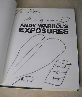 1st Print ANDY WARHOL Pop Art Photographs Book EXPOSURES Autographed w/ Drawings