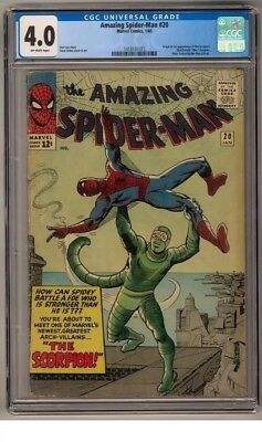 Amazing Spider-man #20 CGC 4.0 (OW) Origin and first Scorpion appearance.