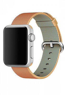 Apple Watch Woven Nylon Strap  Bracelet With Stainless Steel Buckle -38mm Gold