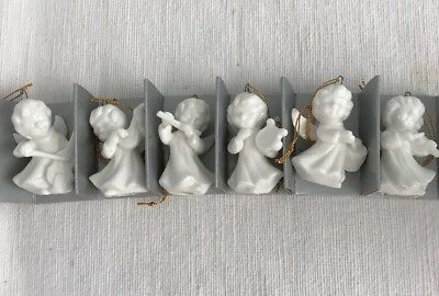 SCHMID ANGELIC SERENADE ANGELS PLAYING DIFF INSTRUMENTS BONE CHINA Ornaments