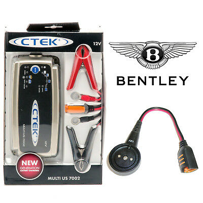 Bentley Battery Charger 7A & Custom Adapter for GT Flying Spur Mulsanne Bentayga