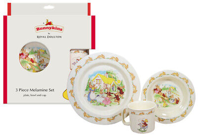 NEW Royal Doulton Bunnykins 3pc Melamine Gift Set