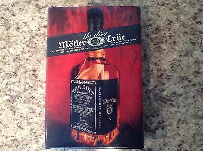 Motley Crue the dirt 1st edition hardcover book