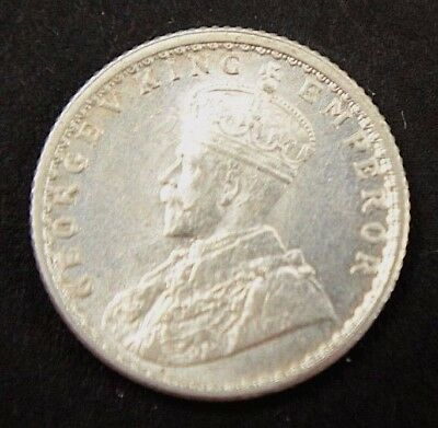 India 1/4 Rupee 1944 Silver George VI World Coin VF Cond.