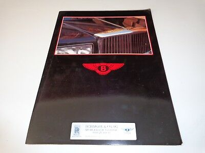 1980s Bentley Brochure with Eight,Mulsanne,MulsanneTurbo,TurboR and Continental