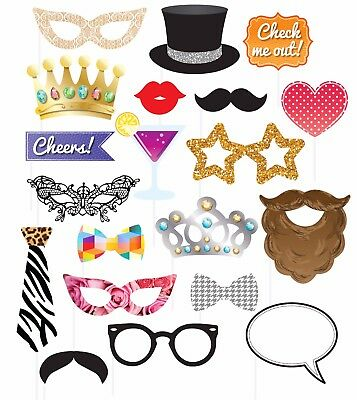 Adults Kids Party Photo Booth Props Supplies Funny Face Party Picture Selfie Fun