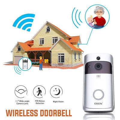 Wireless Wifi Video Door Bell Doorbell Alarm Intercom Detection Monitor Visible
