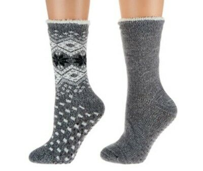 Cuddl Duds One Pair Plushfill Cozy Lined Cabin Socks A282383 (1 Pair of Socks)
