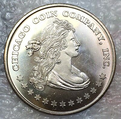 Chicago Coin Company Store Card Token ~ Bust Liberty ~ William Burd Numismatist