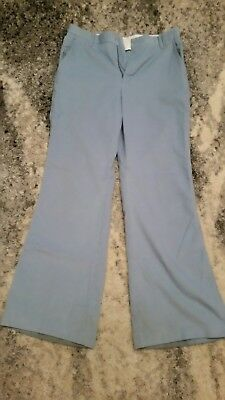 "Vintage 70's Levis Orange Tab Powder Blue Corduroy Bell Bottoms (32"" x 31"")"