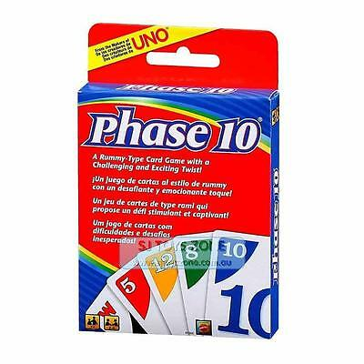 Phase 10 Card Game A Runnmy-Type Card Game with Challenging & Exciting Twist Fro