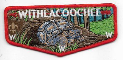 OA Lodge # 98 Withlacoochee South Georgia Council S-3 flap; red border