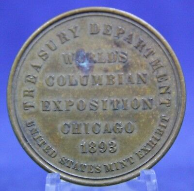 Vintage 1893 Columbian Exposition Chicago, IL U.S. Mint Treasury Building Medal