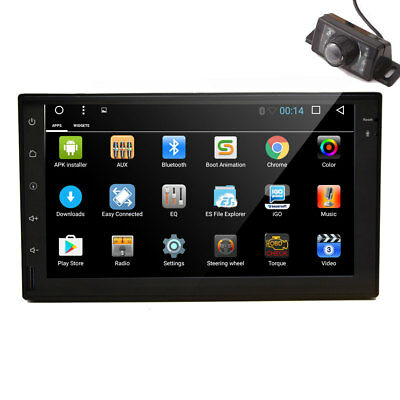 16GB ROM Android 6.0 GPS Car Stereo Radio 3D GPS Navigation Capacitive Screen