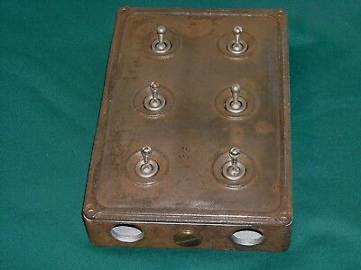 Vintage Industrial Light Switch Cast Iron/ Factory