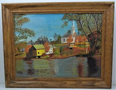 Vintage New England Landscape Oil Painting