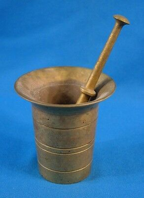 Antique Solid Bronze/Brass Mortar Pestle Apothecary Pharmacy