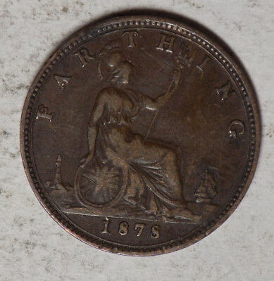 Great Britain 1878 1 Farthing Coin