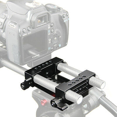 CAMVATE Tripod Mount Base Plate 15mm Clamp RailBlocks for DSLR Shoulder Rig