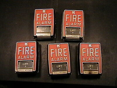 5 Vintage Kidde Fire Alarm Pull Station Switches